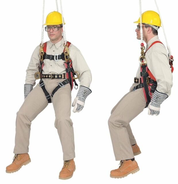 klein tools 87890 fall-arrest/positioning/suspension harness for  tree-trimming