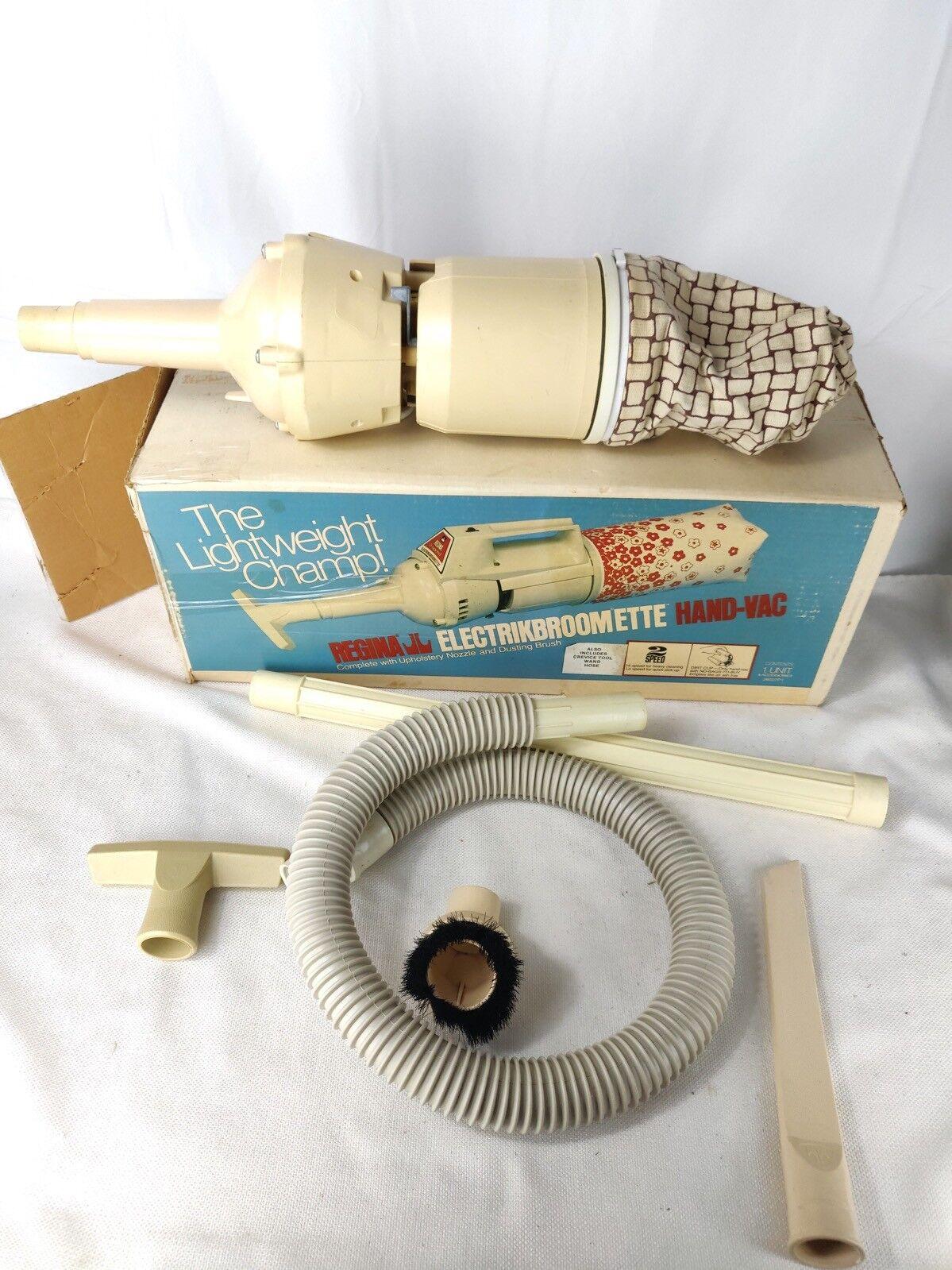 Regina Electrikbroomette Hand-Vac 2-Speed Portable Vacuum