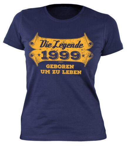 Mädchen Geburtstag 20 Jahre  Jahrgang 1999 T-Shirt zum 20.Geburtstag für Damen