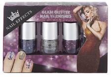 BRAND NEW NAIL EFFECT NAIL VARNISH SET OF 3 : confetti glitter doodle