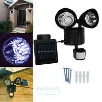 Solar Powered Motion Sensor Light 22 Led Security Shed Garage Outdoor Black Ob