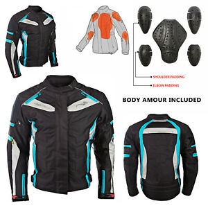 Ladies-Women-Motorbike-Motorcycle-CE-Armoured-Textile-Cordura-Waterproof-Jacket