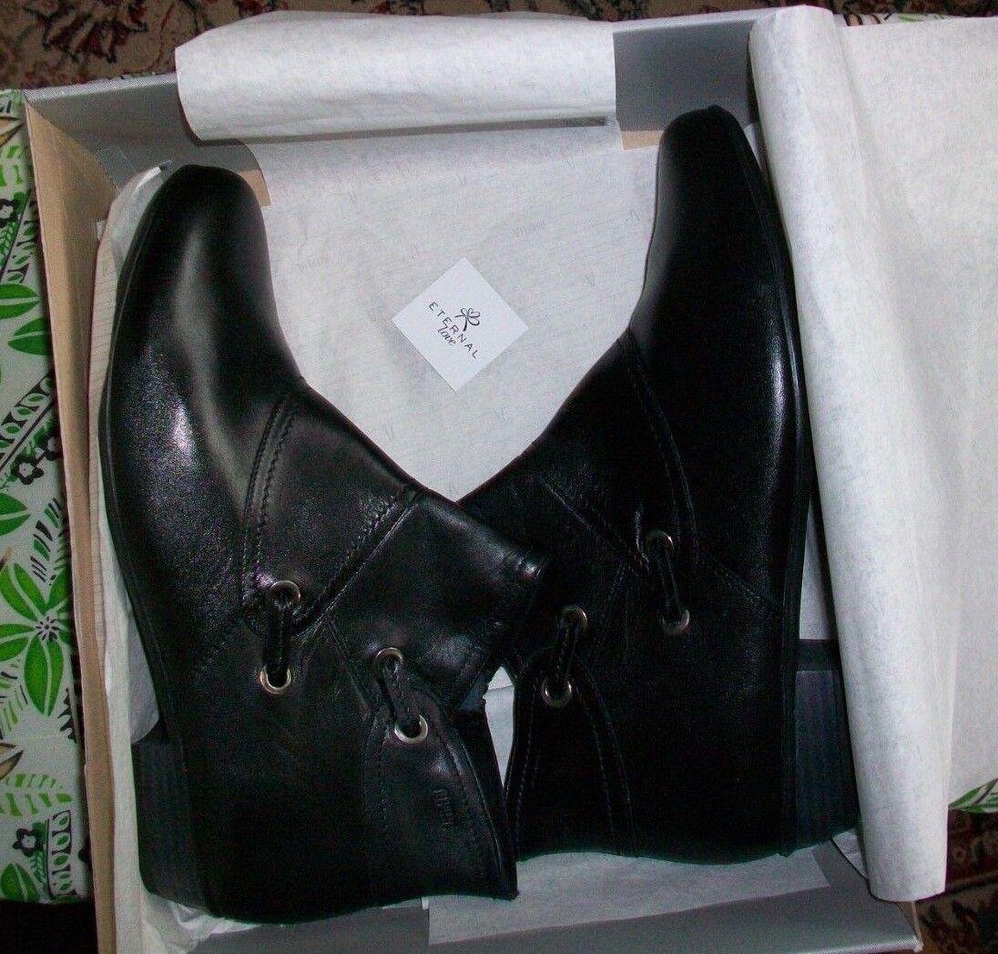 ALPINA,elegante Damen Stiefelette, Gr.9 (43), Schwarz, Leder, Reißverschluss,Neu  | Genialität  | Heißer Verkauf  | Zuverlässiger Ruf