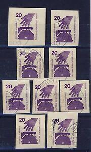 Berlin GA-Ganzsachen-Ausschnitte gestempelt 9 Stück Markenbild 404 Kreissäge - Esslingen, Deutschland - Berlin GA-Ganzsachen-Ausschnitte gestempelt 9 Stück Markenbild 404 Kreissäge - Esslingen, Deutschland