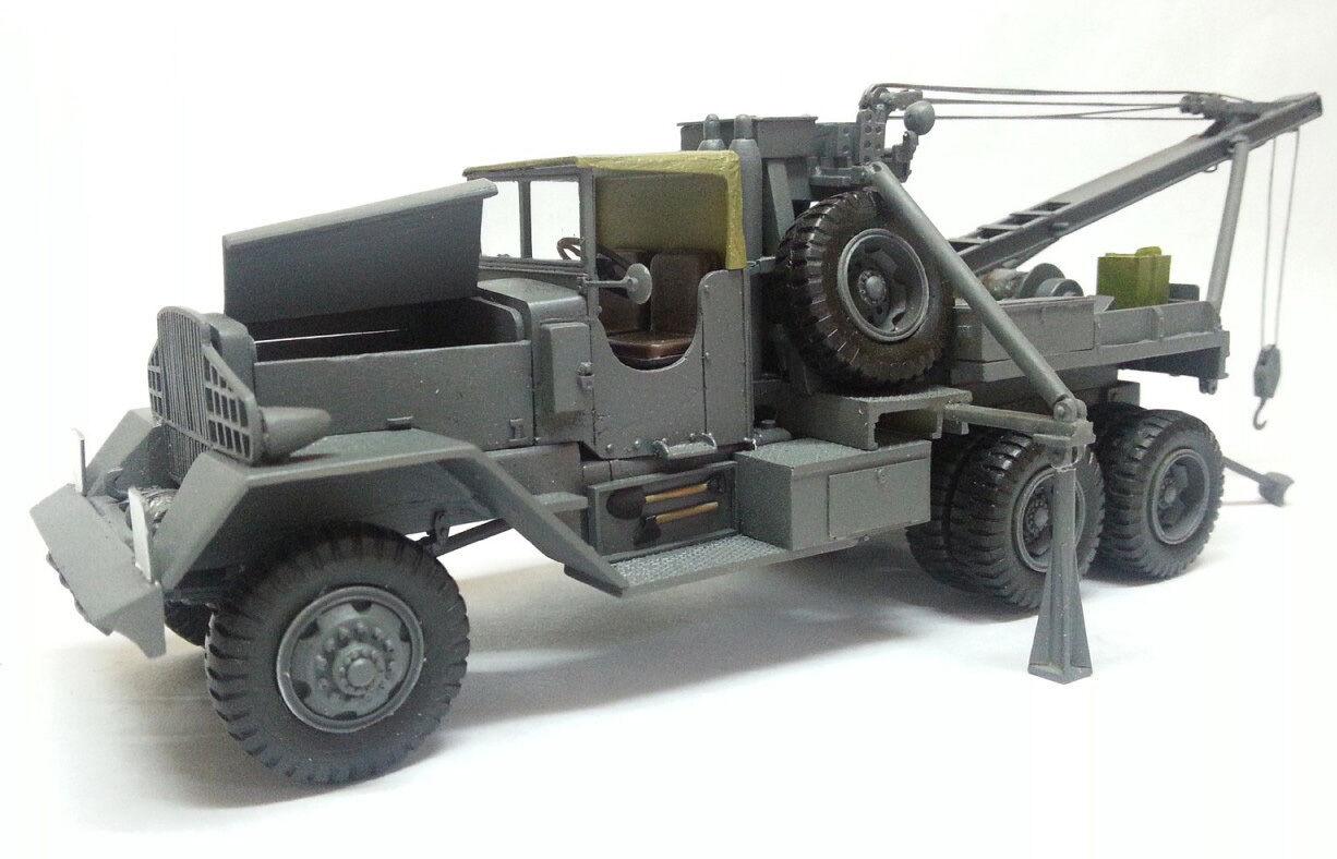 1 50 WARD LAFRANCE 6x6 Heavy Dépanneuse lourde-haute qualité resin kit par FanKit Models
