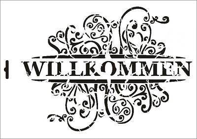 Wandschablone Maler T-shirt Schablone W-410 Brief vintage 2 ~ UMR Design