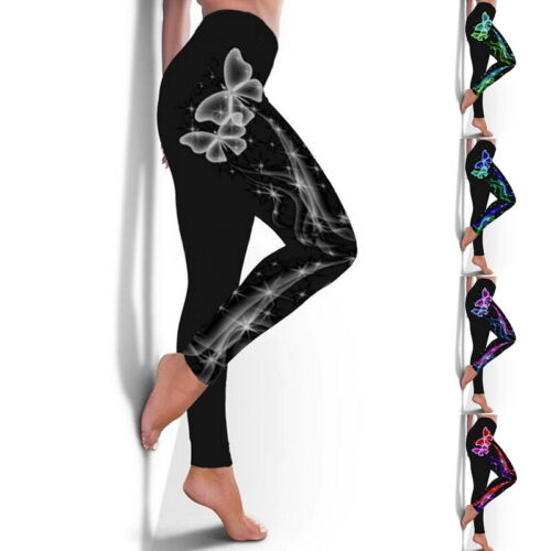 Details about  /Womens High Waist Ladies Gym Leggings Sports Yoga Pants Gym Fitness Run Trousers
