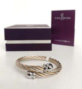 Charriol * Bangle Celtic Steel Grey and Pink Gold PVD Small 04-901-1216-0S