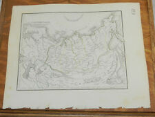 1835 Bradford MAP//NORTHERN ASIA, Russia, Mongolia