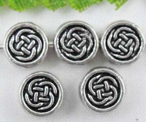 Wholesale 75//160Pcs Tibetan Silver Spacer Beads 7x3mm sans plomb