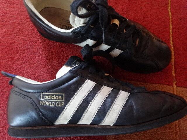 ADIDAS WORLD CUP 66 ~ WM 1966 Edition ~ 41 1/3 schwarz ~ Vintage Sneaker SELTEN