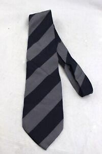 GIORGIO-ARMANI-Cravatte-Navy-Blue-Gray-Diagonal-Stripe-100-Silk-Tie-Italy