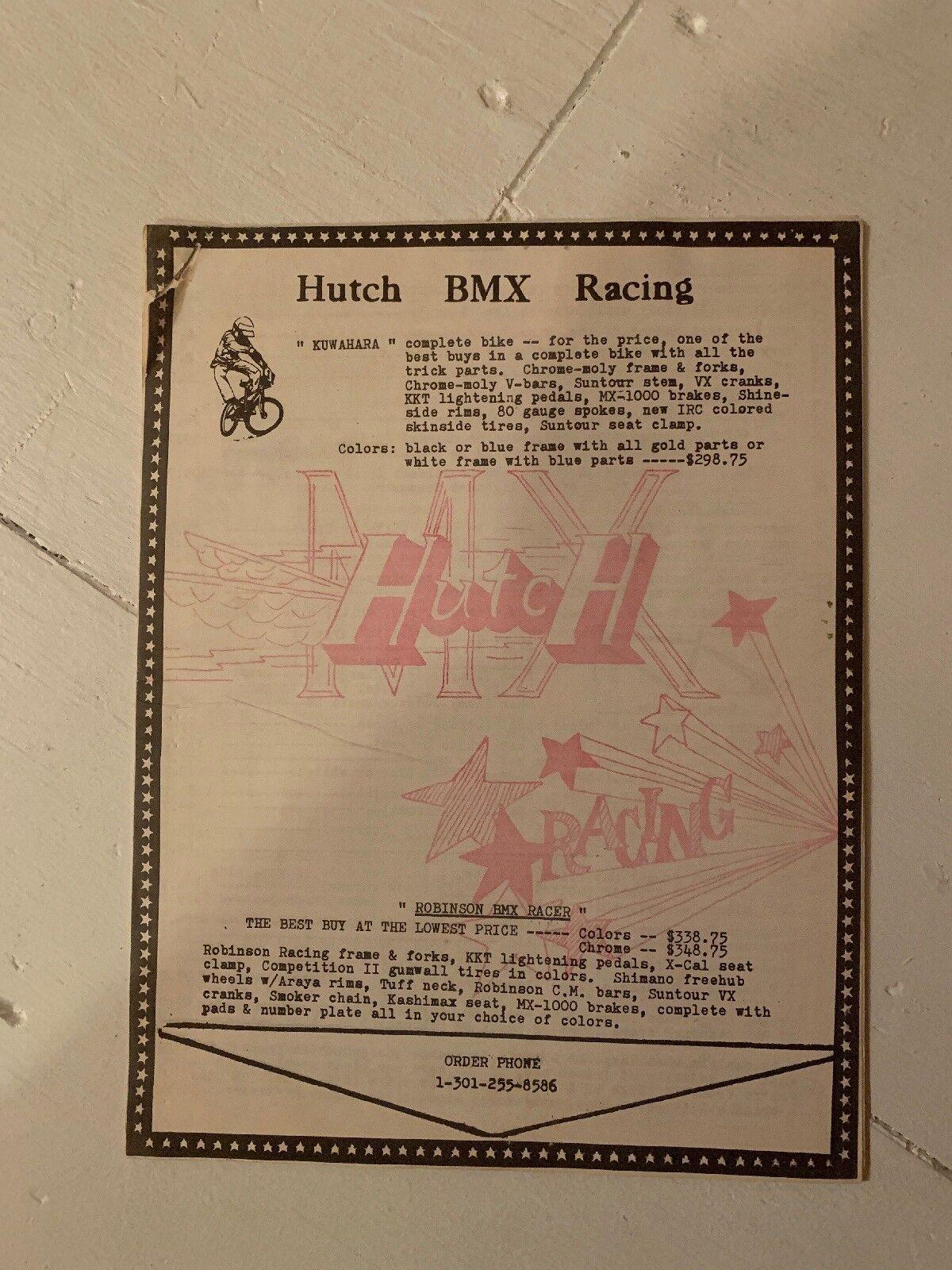 OLD SCHOOL VINTAGE BMX HUTCH BIKE SHOP CATALOG     MAIL ORDER