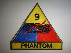 US-Army-Patch-9th-ARMORED-Division-With-Tab-PHANTOM