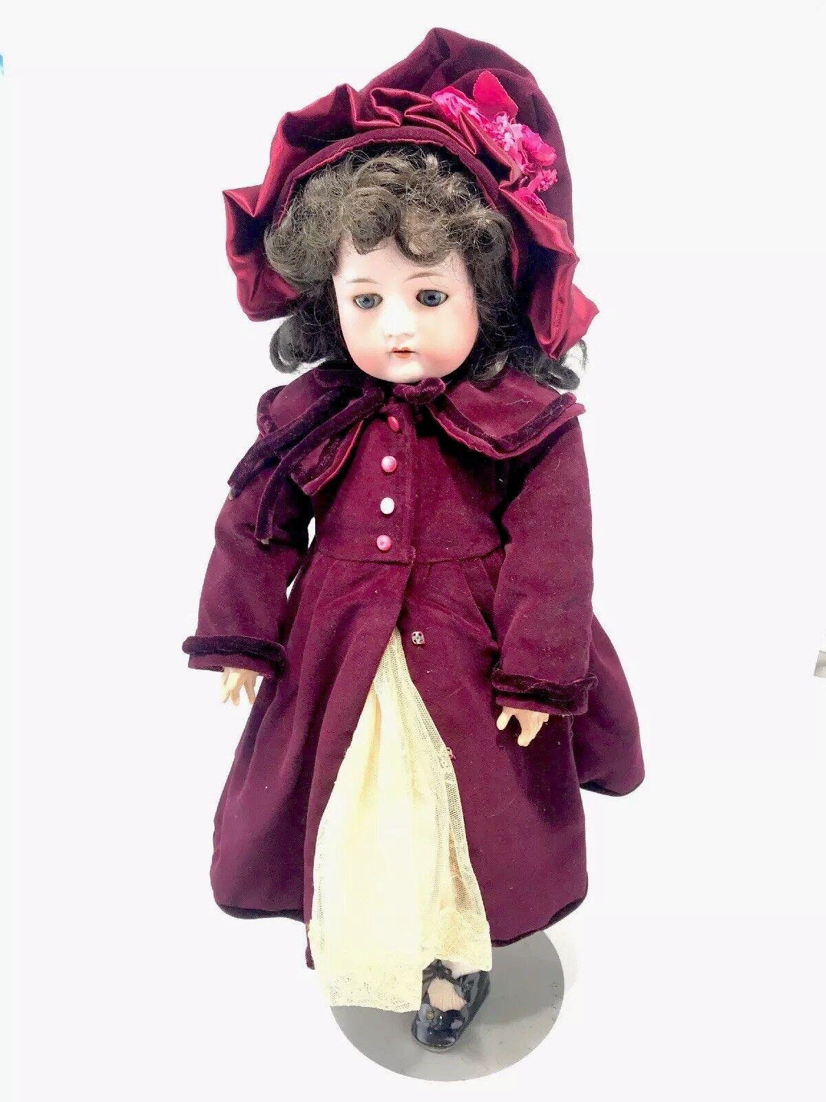 24  Antique Cuno Otto Dressel Geruomo Bisque  bambola 1912-5 Sleep Eyes 4 Point estrella  confortevole