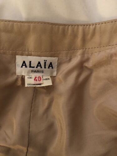 ALAIA Paris Beautiful Leather Nude Skirt