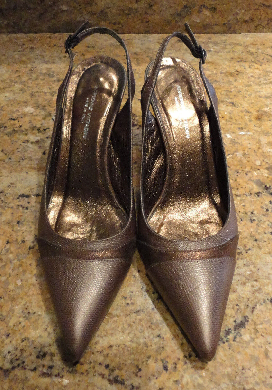 Adrienne Vittadini  8.5 Pumps Slingback Braun Bronze Heels Pumps 8.5 Beautiful e11c5b