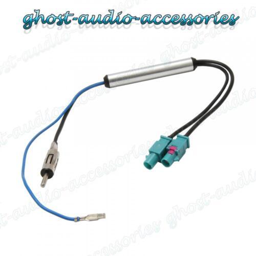 Twin Doble Doble FAKRA Antena Antena Adaptador ISO Cable De Plomo Para Vw