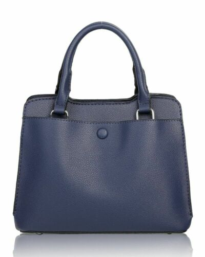 New Women/'s Small Plain Style Top Handle Hand Bag With Front And Back Pocket