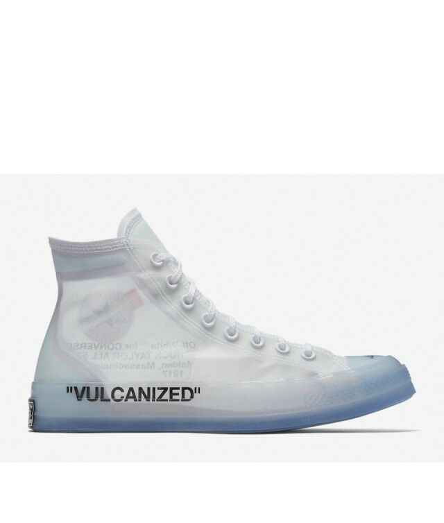 Converse Chuck 70 Hi Taylor Ct The 10 Off-white Clear Virgil Abloh ... 75c00a00f