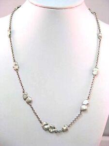 Das Bild wird geladen Franz-Breuning-Nugget-Halskette-Silber-925-mit-0- 7e404f8586