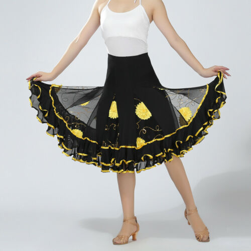New Latin  Cha cha flamenco Ballroom Dancing Dress Modern tango Waltz skirt