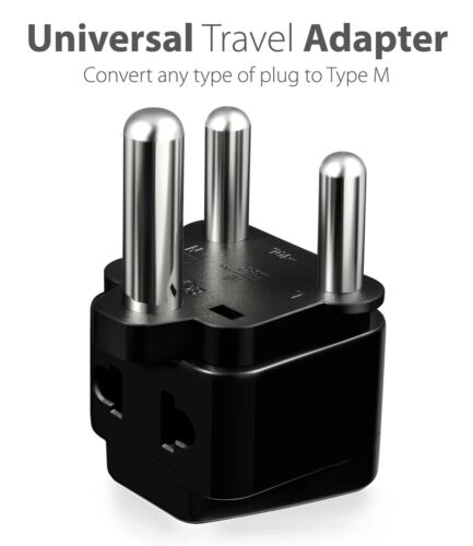 3x US to India Israel Malaysia Singapore Nepal South Africa Plug Adapter Charger