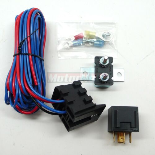 Electric Fuel Water Pump Fans and Lights Relay Kit 30 AMP 12 Volts w// Mounting