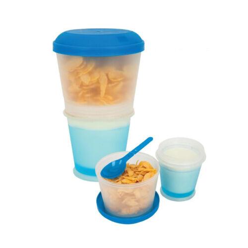 HIGH QUALITY Müsli-to-go-Becher mit isoliertem Milchkühlfach /& Löffel unterwegs