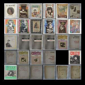 Colette-29-ouvrages-de-1932-a-1973-lot-vintage-litterature-XXe-PN-France
