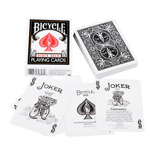 Poker Size Black Back Bicycle Playing Cards