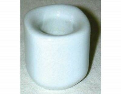 """White Ceramic Chime Candle Holder for 4"""" Ritual Candles  Wicca Pagan"""