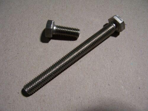 10St Sechskantkopfschrauben DIN 933 V2A rostfrei M6x120