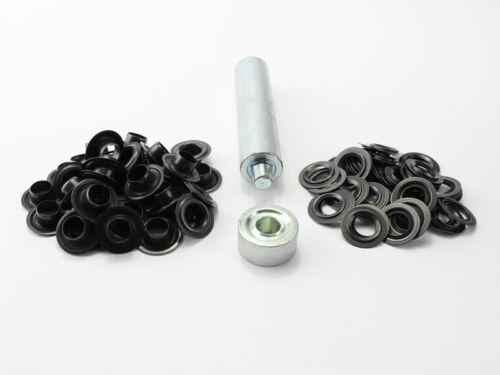 Einschlagstempel Einschlagwerkzeug 10mm  20 DIN Ösen Messing brüniert schwarz