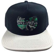 WU-TANG CLAN SNAPBACK HAT CAP BLACK GREY GREEN CAMO LOGO FLAT BILL ADJUSTABLE