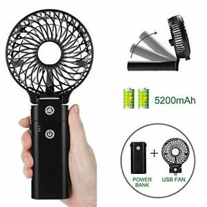 Handlich Tischventilator Ventilator Handventilator USB Mini Fan Lüfter 5V