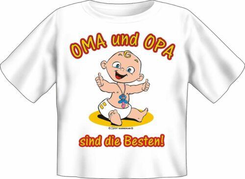 Baby T-Shirt OMA UND OPA SIND DIE BESTEN 56//62-80//86 Schlupfkragen