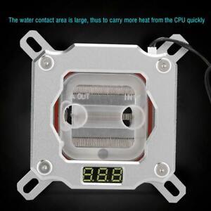 PC-CPU-Water-Cooling-Block-Waterblock-Temperature-Display-for-Intel-1150-1151
