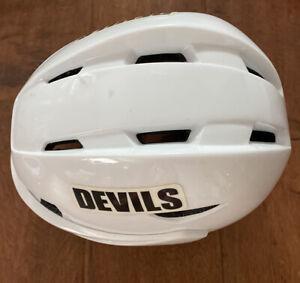 NHL Nick Palmeri New Jersey Devils Game Used  Hockey Helmet