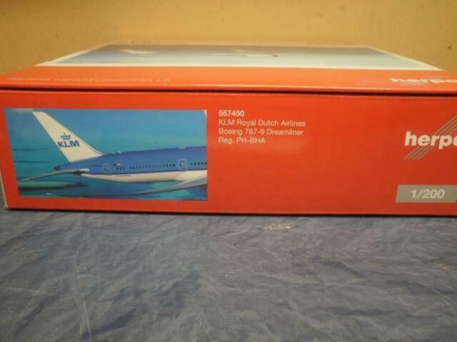 Herpa 557450-1//200 Boeing 787-9 Dreamliner-KLM-NUOVO