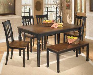 Ashley Furniture Owingsville 6 Piece Dining Room Table Set Ebay