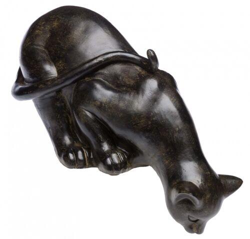 Nostalgie Skulptur Katze Garten Haus antik Stil Figur sculpture cat York Cats