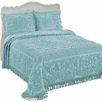Calista Chenille Bedspread With Fringe Border, By Collections Etc