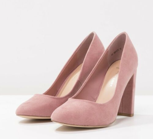 NEW LOOK Taille 3 4 6 Wide Fit Dusty Rose F Daim Haut Slim Chaussures à talon NEUF