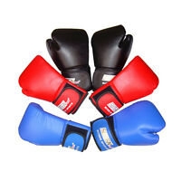 PU Leather Boxing Gloves Sparring Punch Bag Muay Thai kickboxing Training M&C
