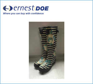 Size 7 Print Joules stock Ex Boots Wellington Women's Welly Faded Uk vvwqxg8a