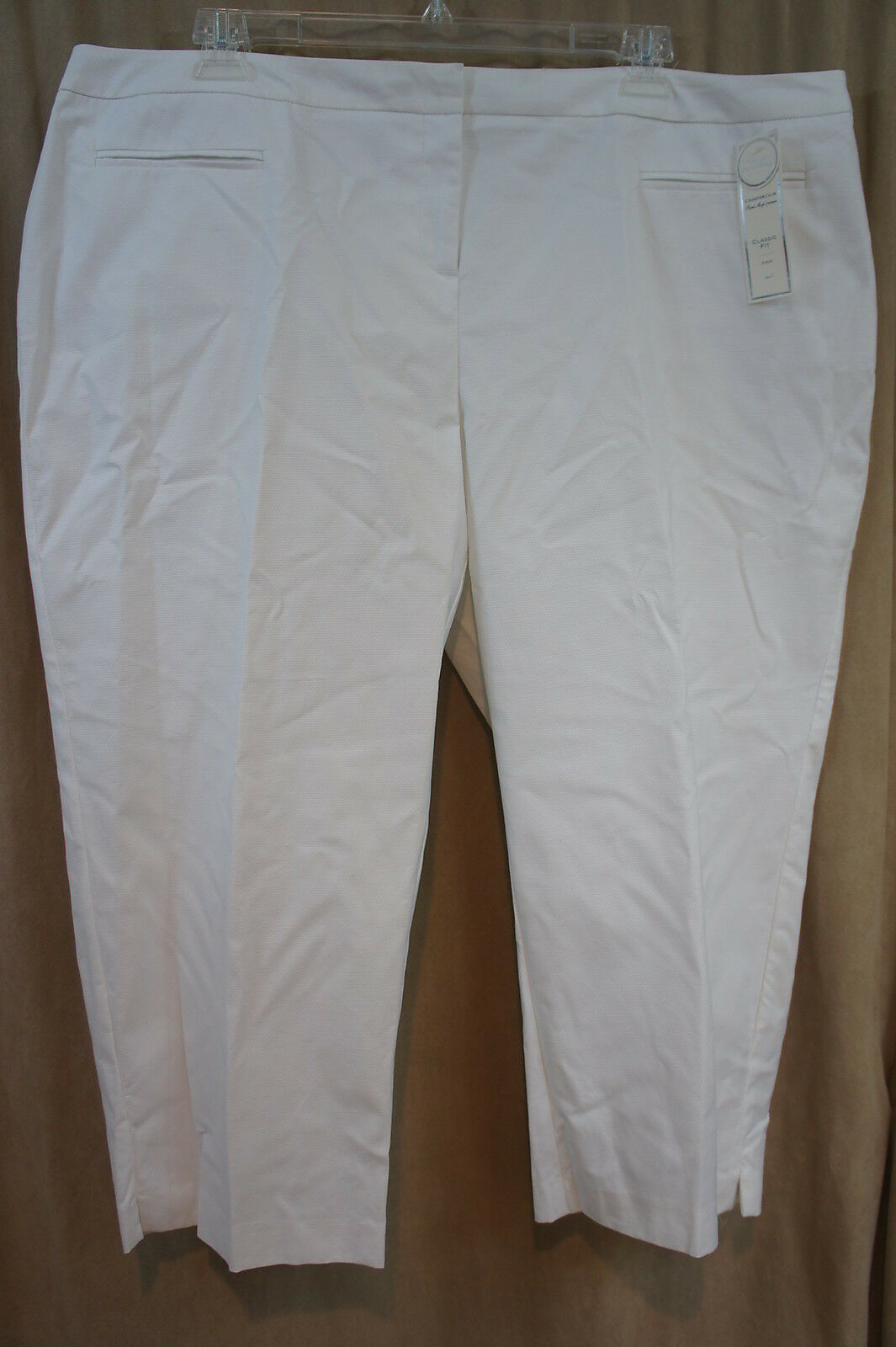 Charter Club Pant Shop Woman Cropped Pants Sz 22W White Classic Fit Slimming