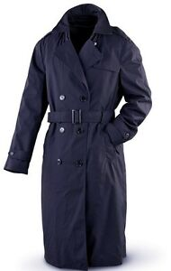 USAF Air Force Women's Dress Uniform Blue Trench Overcoat ...