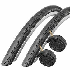 Schwalbe Lugano 700c x 25 Road Racing Bike Tyres and Tubes (with Puncture Pro...
