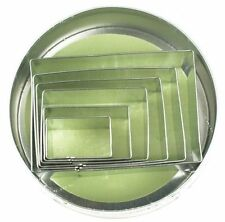 Fox Run 6 pc Rectangles Stainless Steel Cookie Cutter Set - Biscuit Pastry Mold